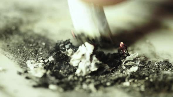 Thumbnail for Smoking. A Cigarette in an Ashtray. Close-up. Macro