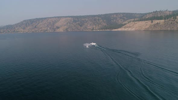 Thumbnail for Man Waterskiing Behind Boat On Lake Roosevelt