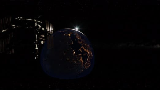 Thumbnail for Zeitraffer ISS in Virtual Reality 360 Grad Video. Internationale Raumstation
