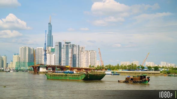 Thumbnail for Ho Chi Minh City Skyline Along the Song Sai Gon River