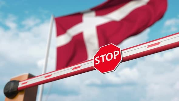 Thumbnail for Open Boom Gate on the Danish Flag Background