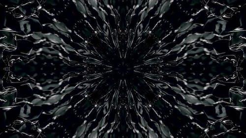 Kaleidoskopische abstrakte Ovale saugten in den zentralen Punkt