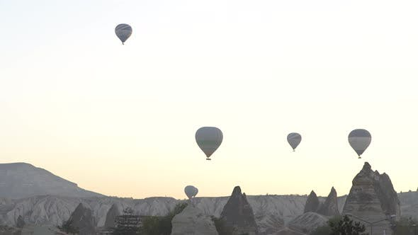 Thumbnail for Balloons in the Sky Over Cappadocia, Turkey