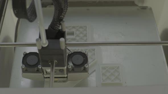 Thumbnail for 3D Printer During Printing Close-up.