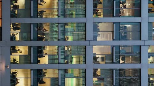 timelapse of a modern office building