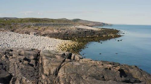 Coastline of Barents Sea Near Teriberka Settlement