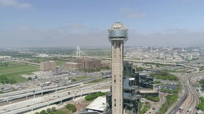 Aerial view of the Reunion Tower in Dallas