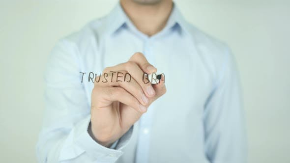 Thumbnail for Trusted Brand, Writing On Transparent Screen