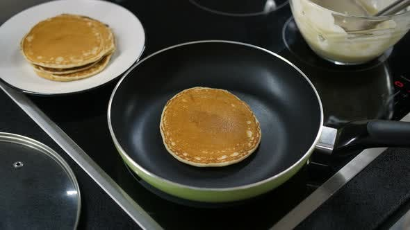 Thumbnail for Pancake Flipped on Frying Pan