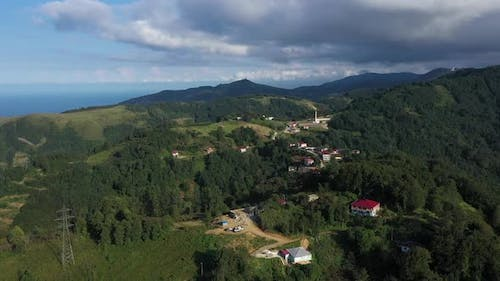 Trabzon Mountains Clouds And Forest Aerial View