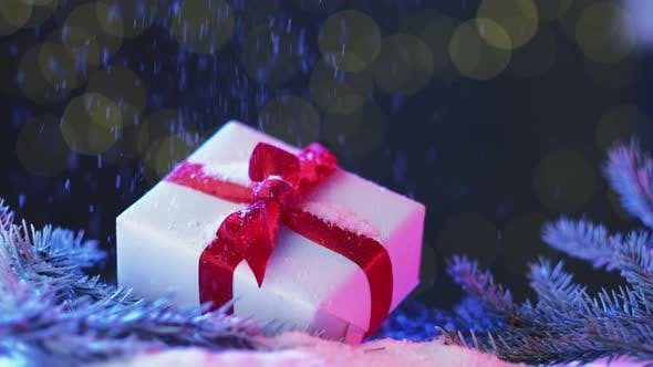 Cover Image for Weihnachtsfeier Geschenkbox Hintergrund