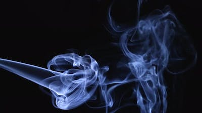 Realistic Smoke on a Black Background