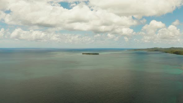 Cover Image for Seascape, Blue Sea, Sky with Clouds and Islands