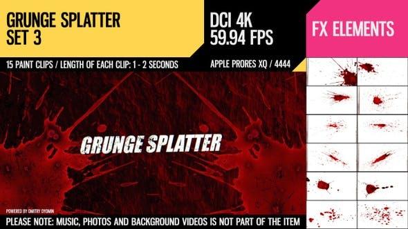 Cover Image for Grunge Splatter (4K Set 3)