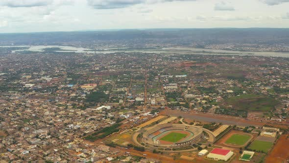 Thumbnail for Africa Mali City And Stadium Aerial View 2