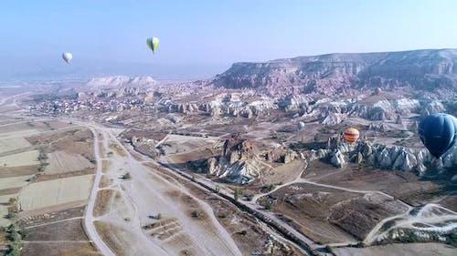 Hot Air Balloons Above Cappadocia