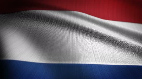 Thumbnail for Netherlands Flag Seamless Loop