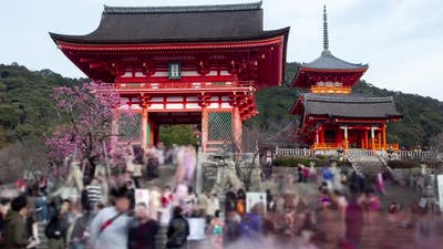 Kyoto Temple Japan Architecture Tourists Timelapse