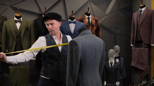 tailor dancing with a mannequin
