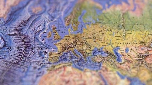 Europe Landscaped Paper Map, Slider Shot