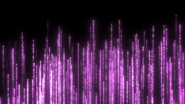 Purple Particles Rising Background