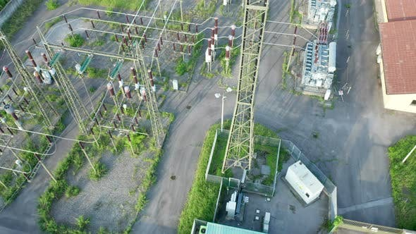 Thumbnail for Electric Distribution Station Aerial View