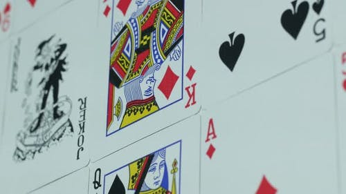 Modern Playing Cards For Gambling On The Table