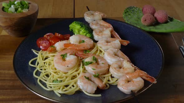 Thumbnail for Shrimp Scampi and Pasta with Parsley