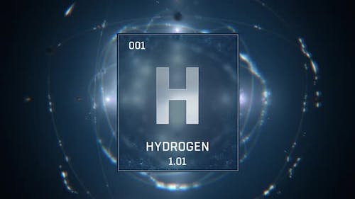Hydrogen As Element 1 Of The Periodic Table On Blue Background