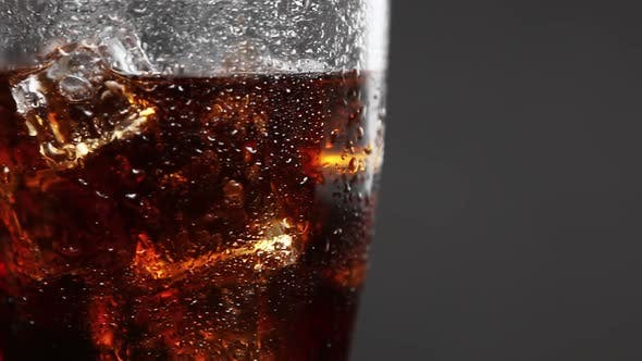 Thumbnail for Carbonated Drink Cola in a Glass Glass with Ice