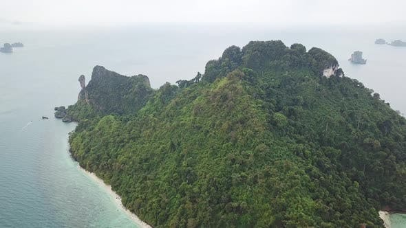 Thumbnail for Aerial Panorama of Chicken Island, Thailand