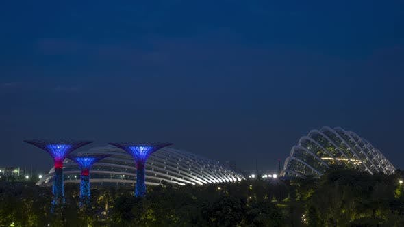 Cover Image for Evening at the Singapore Gardens by the Bay