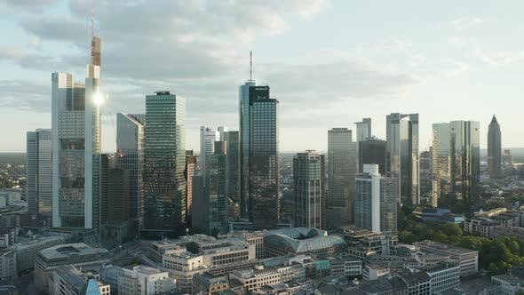 Thumbnail for Beautiful Frankfurt Am Main, Germany Cityscape in Soft Summer Afternoon Light with Green