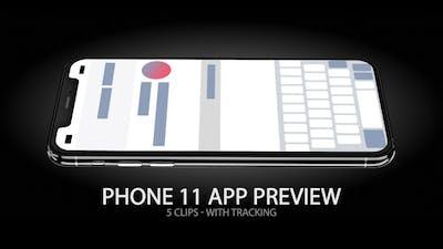 iPhone 11 App & Website Preview Screen
