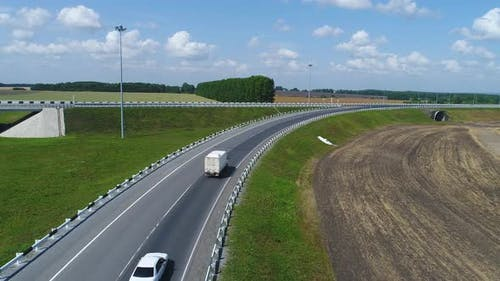 Aerial View Highway Junction.