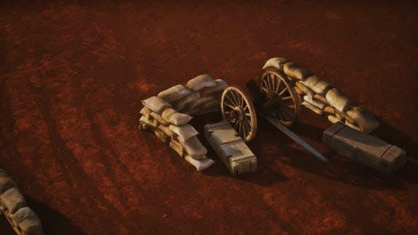Thumbnail for Gun Behind Sandbags During the U.S. Civil War