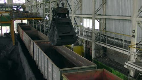 Loading of Iron Ore at a Mining Plant