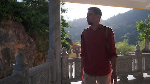 Visiting Pagoda in Picturesque Place