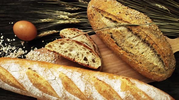Thumbnail for Freshly baked Traditional Italian Ciabatta bread 01