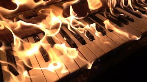 Burning Piano Keys