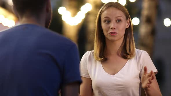 Cover Image for Emotional Teen Girl Telling a Story on a Date.