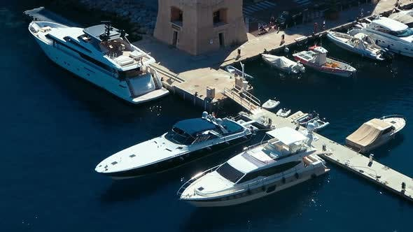 Cover Image for Aerial View Skyline Monaco Luxury Yachts