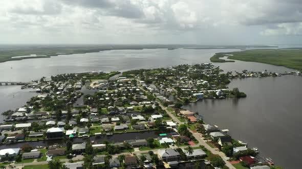 Thumbnail for Aerial Shot Travel Hotspot Matlacha Florida A Fishing Town