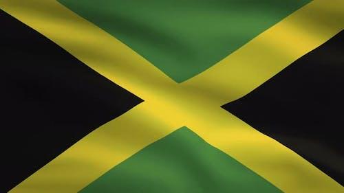 Jamaica Windy Flag Background 4K