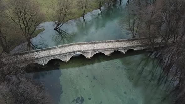 Thumbnail for Aerial View Of The Old Roman Bridge In Sarajevo - 5 Clips Included