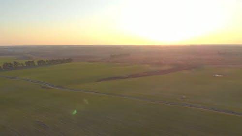 Farm Fields Panorama