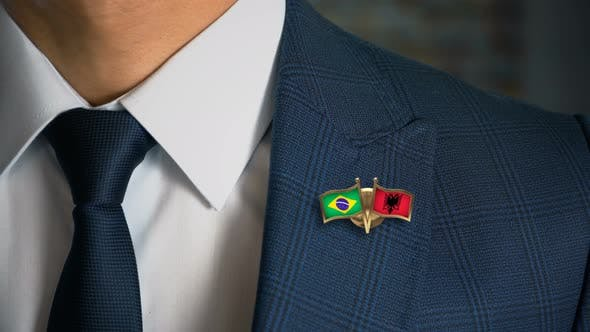 Thumbnail for Businessman Friend Flags Pin Brazil Albania
