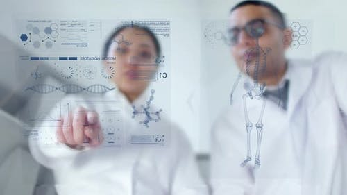 Doctors Using AR Screen and Discussing Medical Information