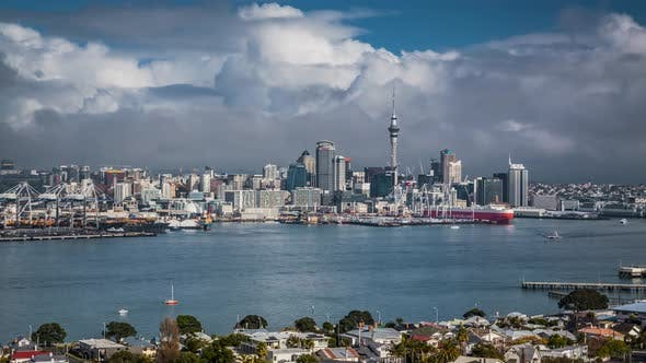 Thumbnail for Auckland in New Zealand timelapse