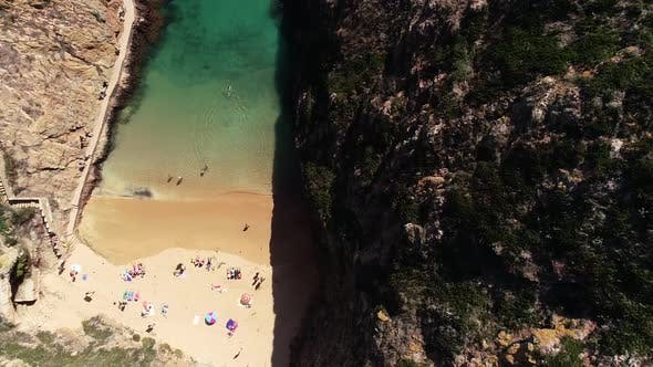 Thumbnail for People on Paradise Beach From Above